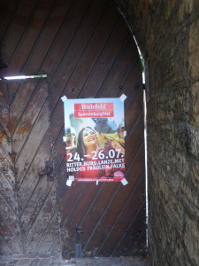 Ankündigung des Sparrenburgfests Bielefeld